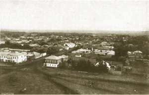 Вид Кирсанова с колокольни Успенского собора на юго-восток