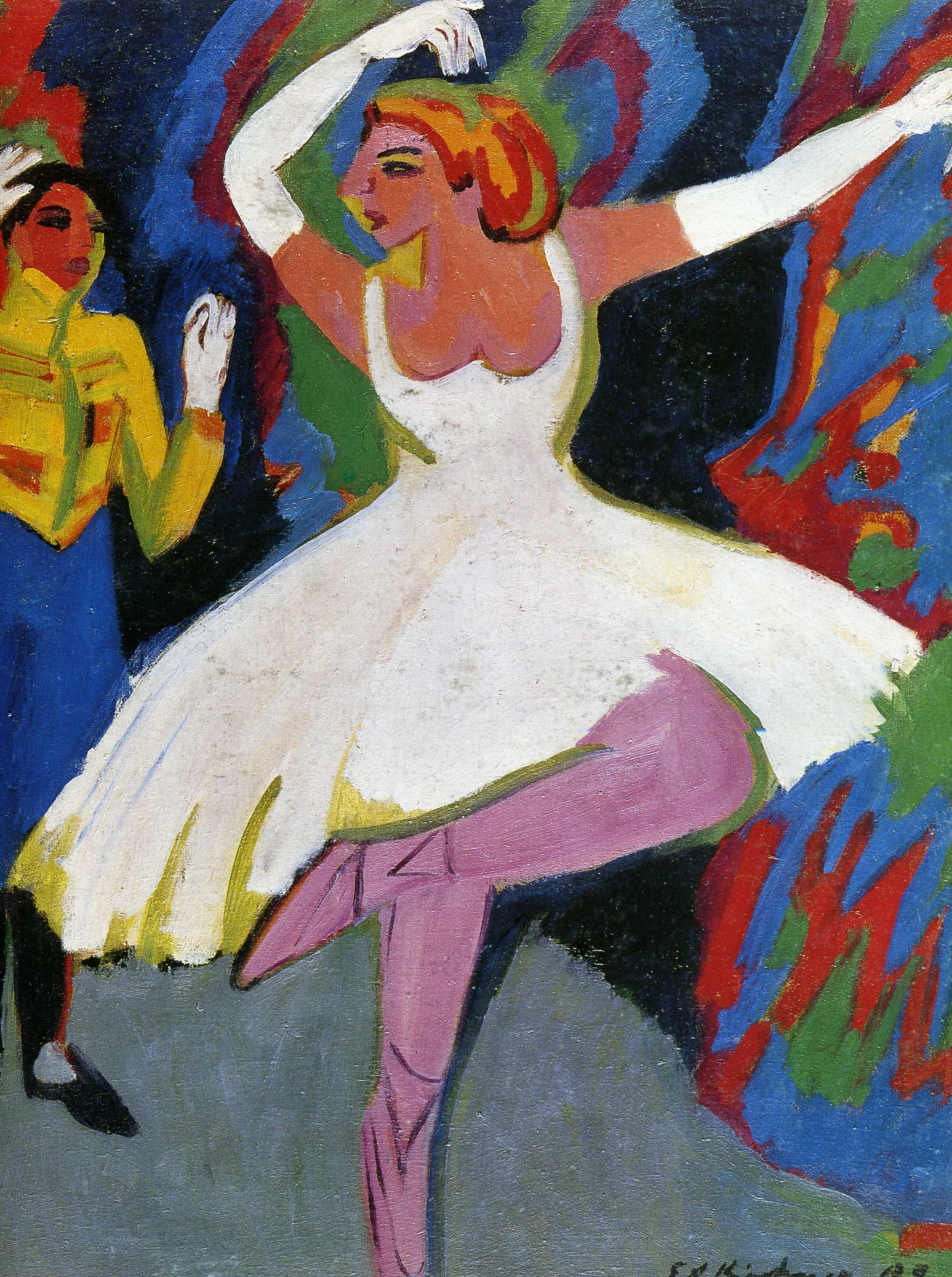 Эрнст Людвиг Кирхнер (1880 — 1938) — немецкий художник, график и скульптор, представитель экспрессионизма. 1909. «Русская танцовщица»