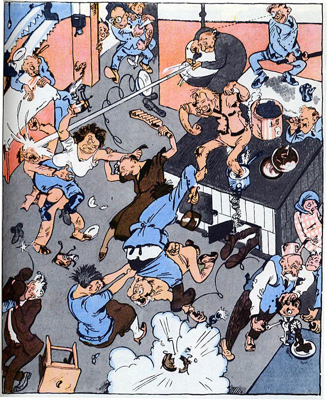 Communal Kitchen, caricature by Konstantin Rotov, published in Krokodil, 1927.jpg