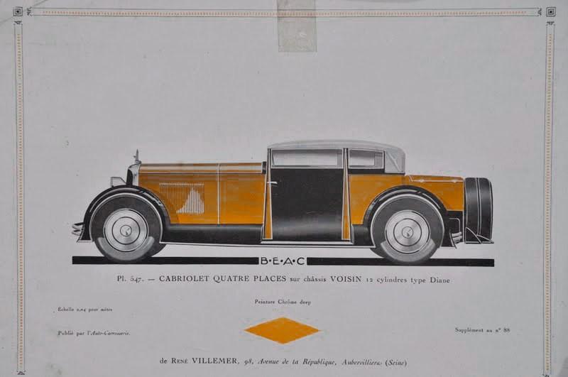 1928 - Cabriolet quatre places sur châssis Voisin 12 cylindres type Diane.jpg