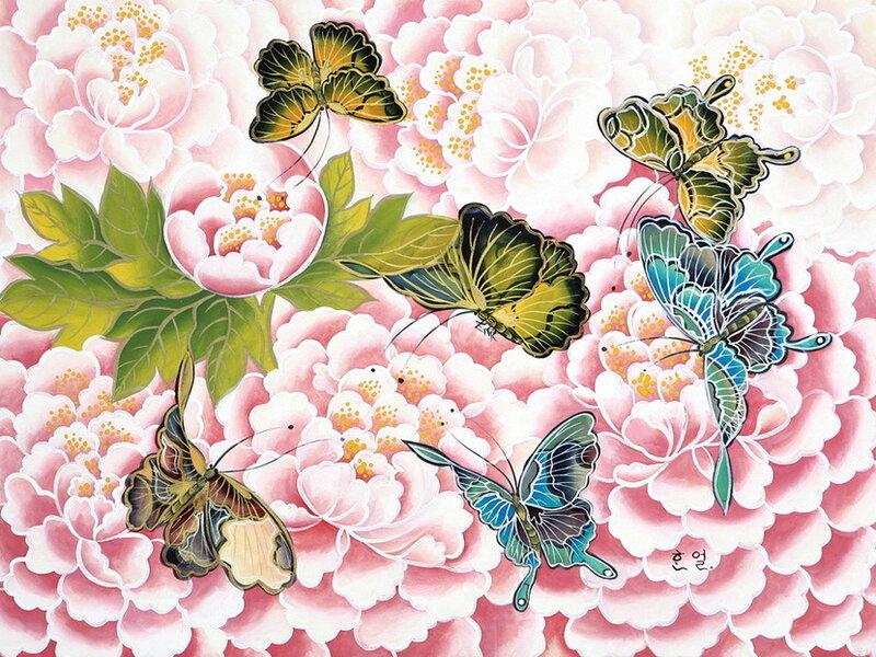 Бабочки. Им далеко до грусти,  ненависти и мести.  Hahn Eun-Sun