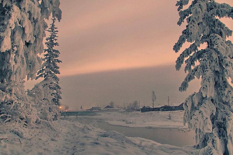 вечерний  снегопад...