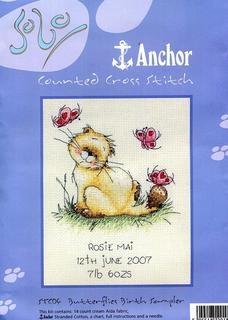 Anchor STC04 - Butterflies Birth Sampler