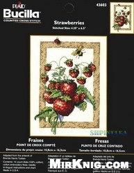 """Журнал Набор для вышивки крестом """"Strawberries"""" (43603)"""