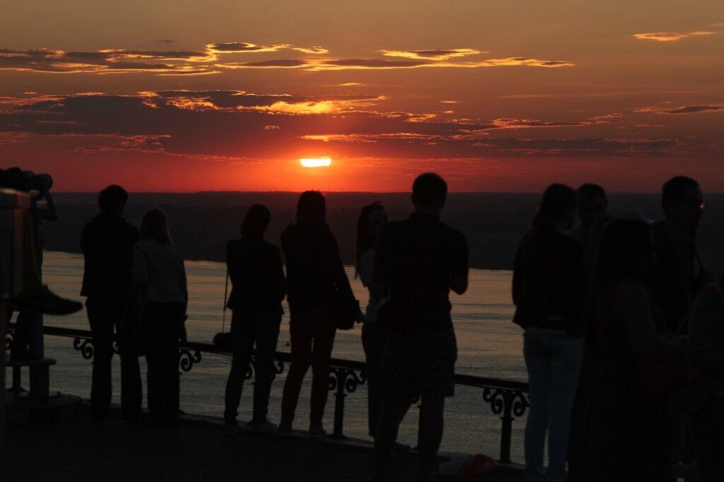 Созерцание заката, Чкаловская лестница