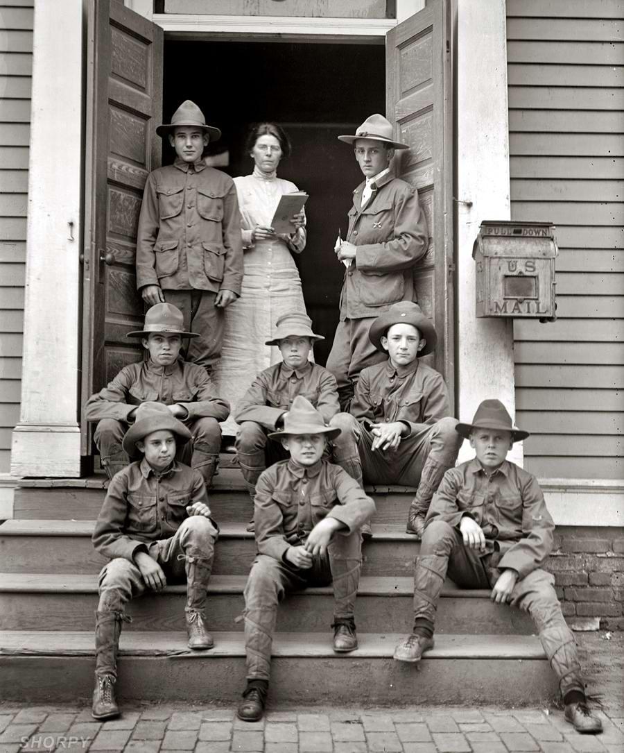 Американские бойскауты начала 20-го века на снимках фотографов (15)