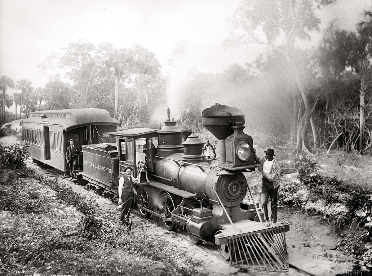 Железные дороги конца 19-го - начала 20-го века на снимках американских фотографов (18)