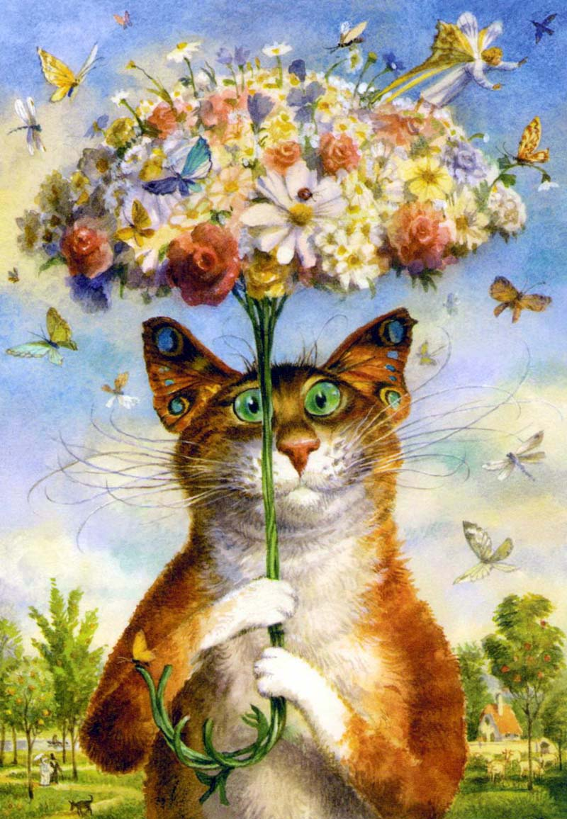 Коты румянцева вышивка