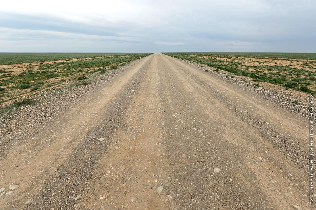 дорога в казахской степи