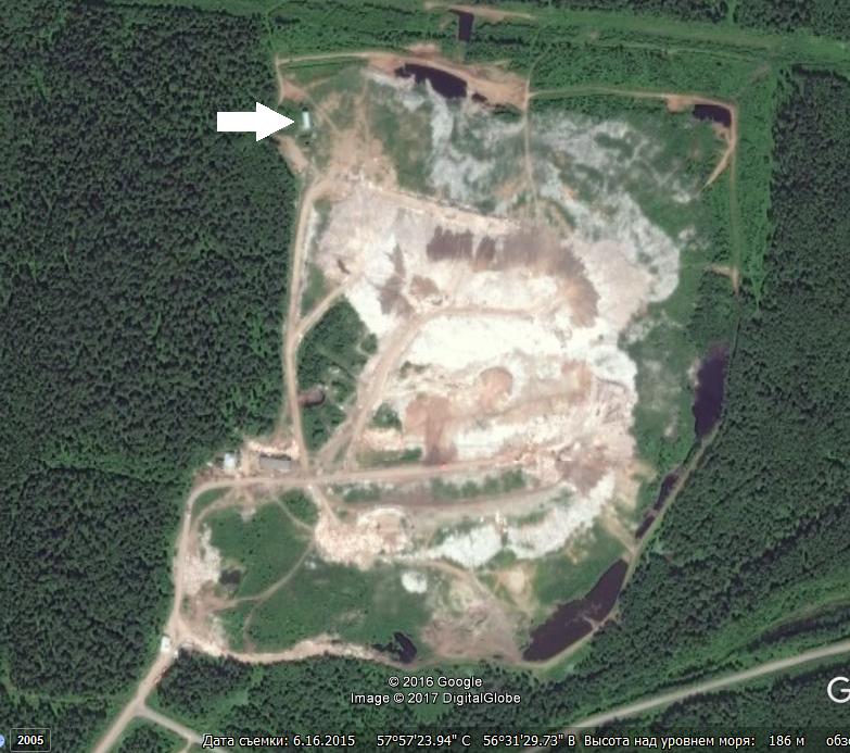 Расположение ямы Беккари в Перми на полигоне твёрдых бытовых отходов в Софронах.png