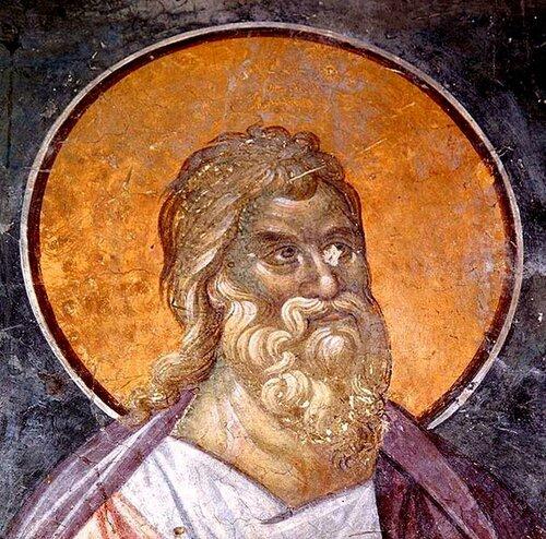 Святой Пророк Софония. Фреска церкви Святых Иоакима и Анны (Королевской церкви) в монастыре Студеница, Сербия. 1314 год.