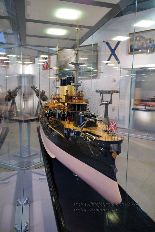 Модель эскадренного броненосца Бородино, Центральный военно-морской музей, Санкт-Петербург