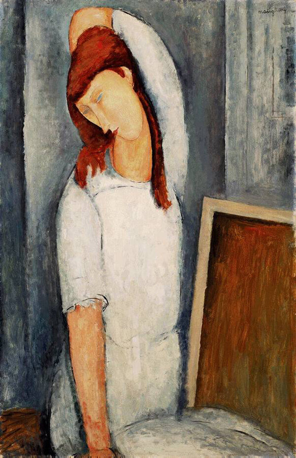 Coffee (Portrait Jeanne Hébuterne) - 1919 - Barnes Foundation, Lincoln University, Merion, PA, USA - Painting - oil on canvas.jpeg