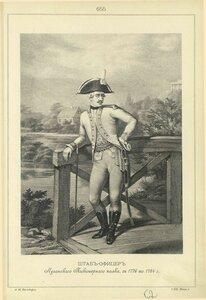 655. ШТАБ-ОФИЦЕР Луганского Пикинерного полка, с 1776 по 1784 г.