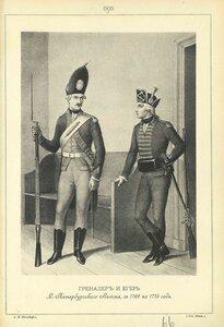 669. ГРЕНАДЕР и ЕГЕРЬ С.-Петербургского Легиона, с 1769 по 1775 год.