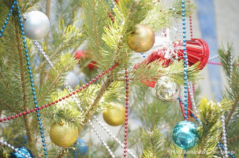 Новогодняя ёлка, Саратов, аэропорт, 14 декабря 2014 года