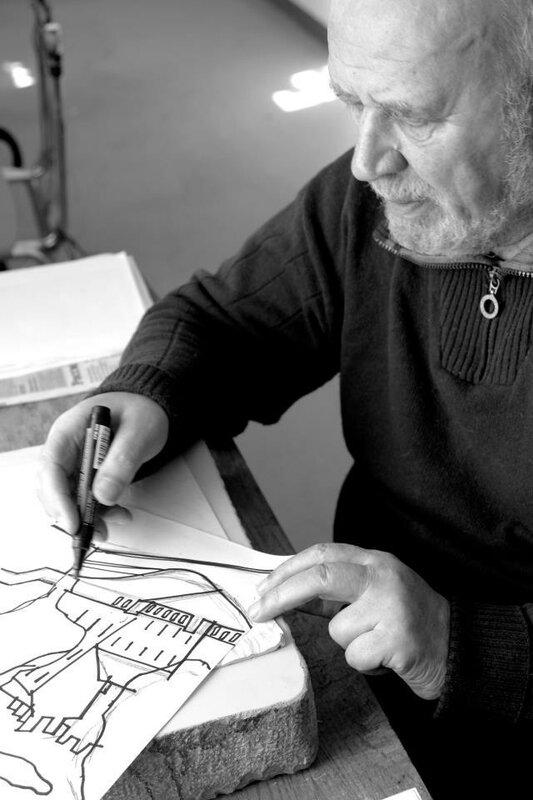2013.17.04. Гага Ковенчук рисует для нашего эстампного проекта