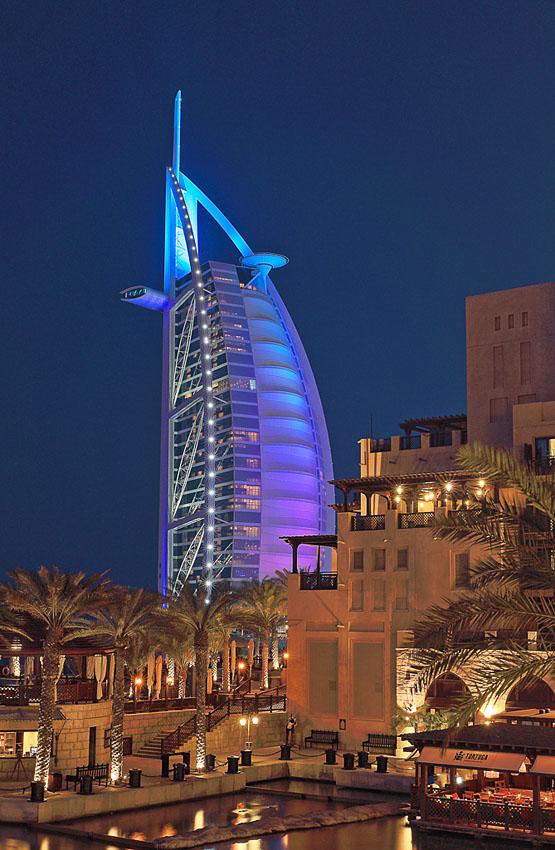 Фотография 9. Небоскреб в Дубае. Фото HDR. Гостиница The Burj-Al-Arab. Фотоаппарат Canon EOS 6D.