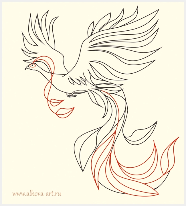 Если вы рисуете жар-птицу