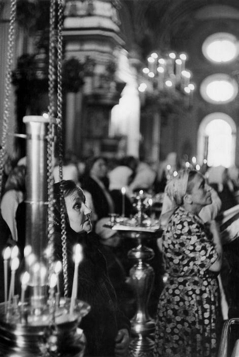 1954. Москва. Воскресная служба в церкви в Сокольниках