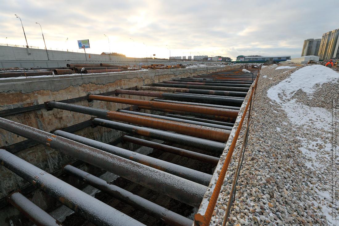 тупиковый котлован Рассказовка строительство метро