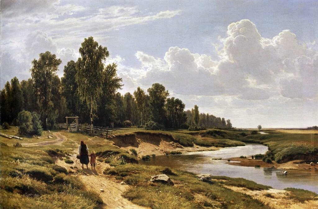 Речка Лиговка в деревне Константиновка близ Петербурга. 1869 102,5х160.5.jpg