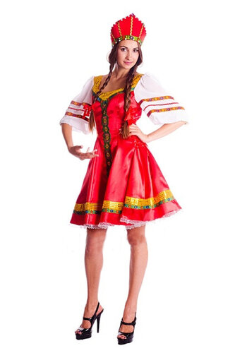 Женский карнавальный костюм Народный