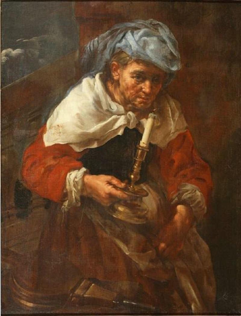 Старуха со свечой (Аллегория огня) Эберхар Кейхлау  автор  XVII-XVIII век  холст, масло  97х73 см.jpg