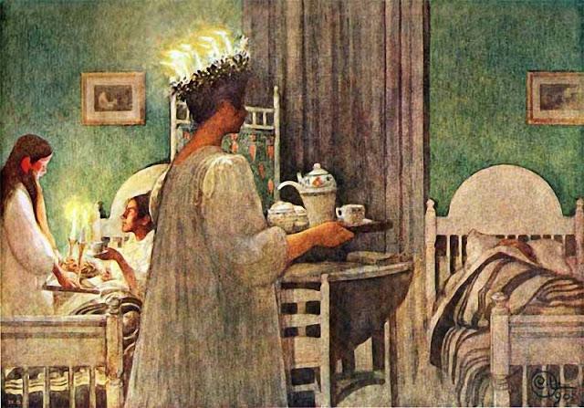 Carl Larsson. Lucia Morning, 1908