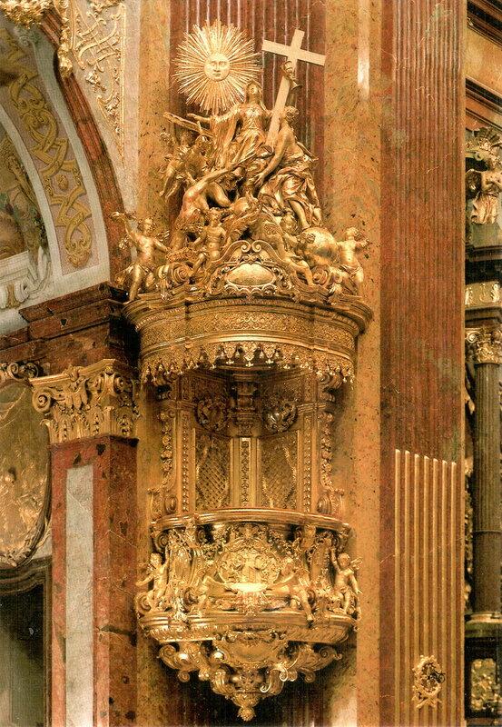 Кафедра (создана в 1726 г. скульптором Петером Видерманом)