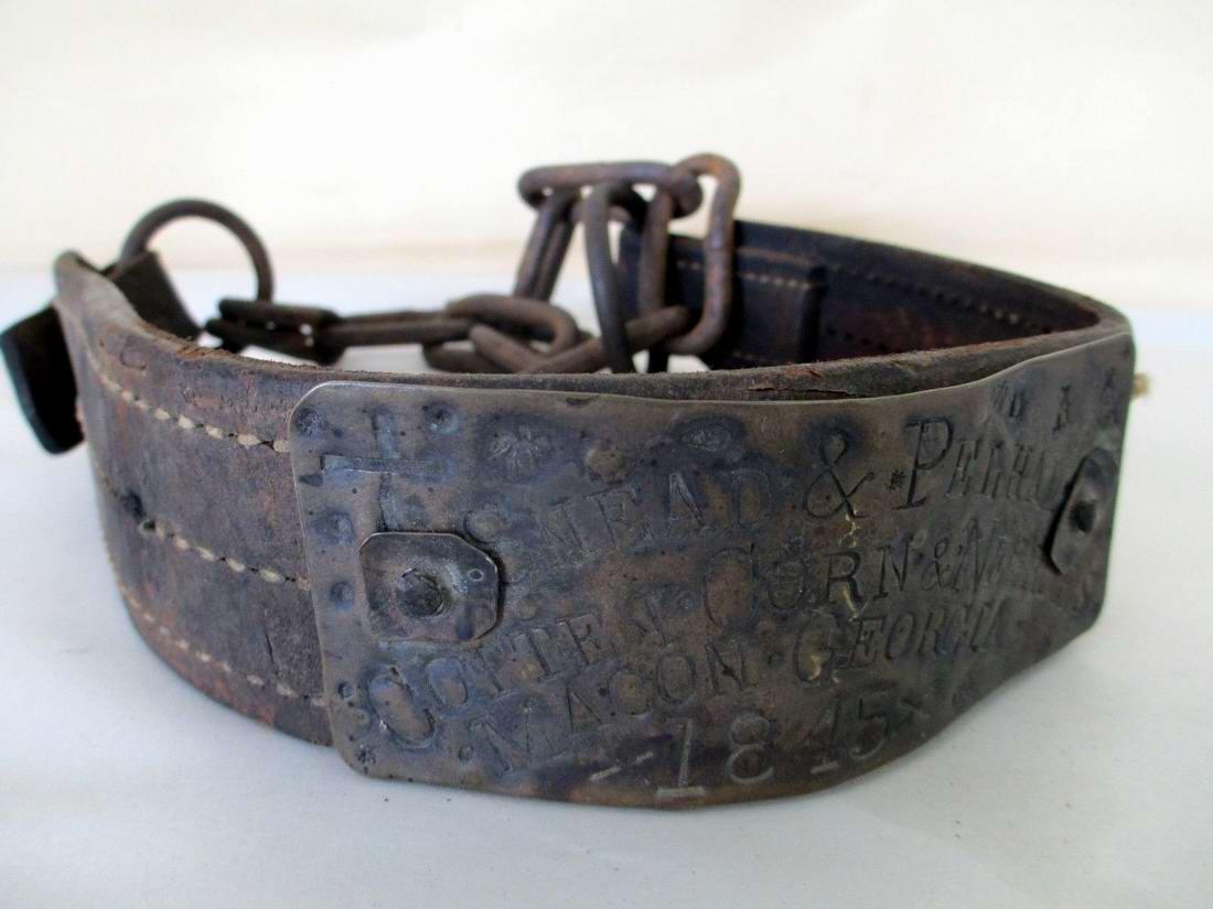 Ошейник североамериканского раба, изготовленный в 1845 году (1)