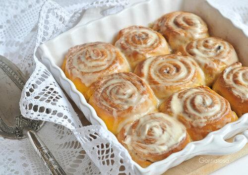 Настоящие булочки синабон рецепт с фото