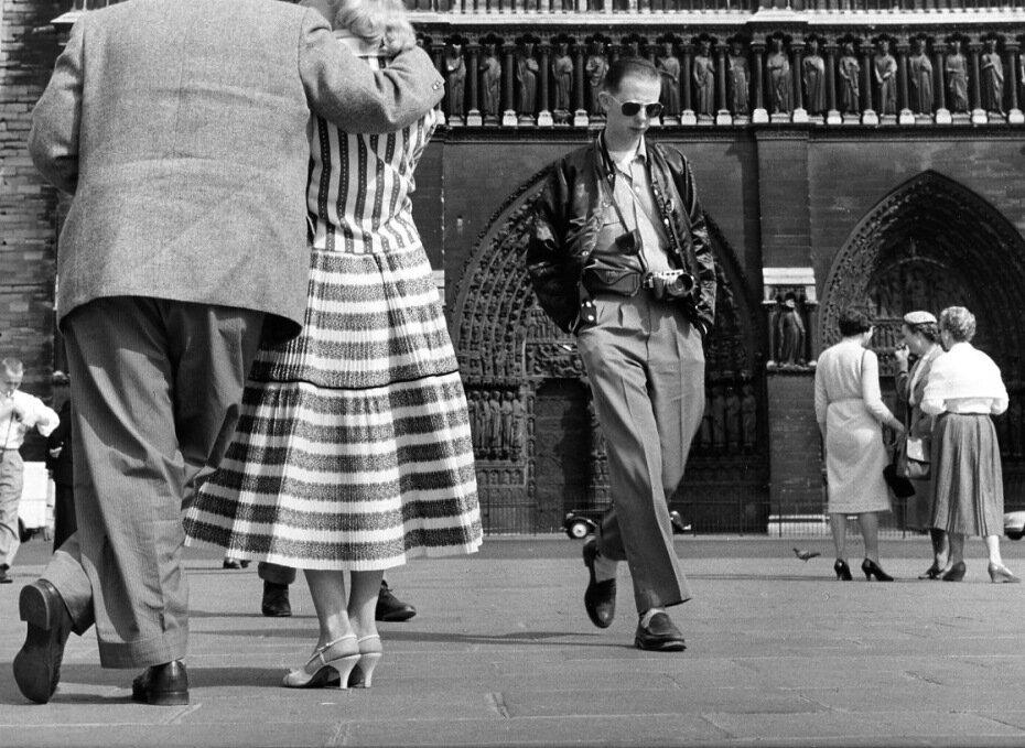 1956. Туристы в Нотр-Дам
