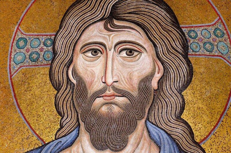 Христос Пантократор. Мозаика собора в Чефалу, Сицилия. 1140-е годы. Фрагмент.