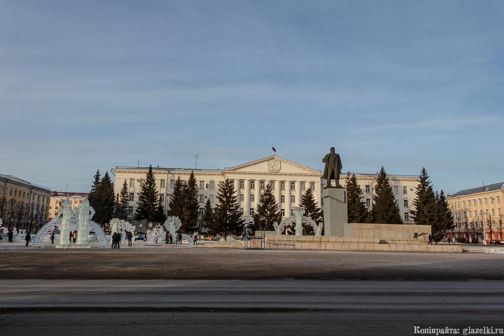 Площадь Ленина, Курган.