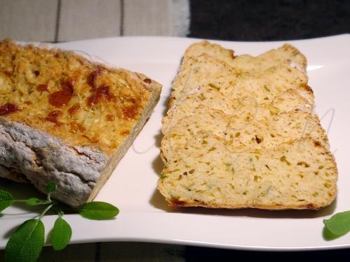 Хлеб из пастернака с сыром чеддер