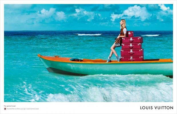 Джулия Нобис (Julia Nobis), Лия Кебеде (Liya Kebede) и Маарти Верхоф (Maartje Verhoef) в рекламной фотосессии для Louis Vuitton Spirit of Travel (4 фото)