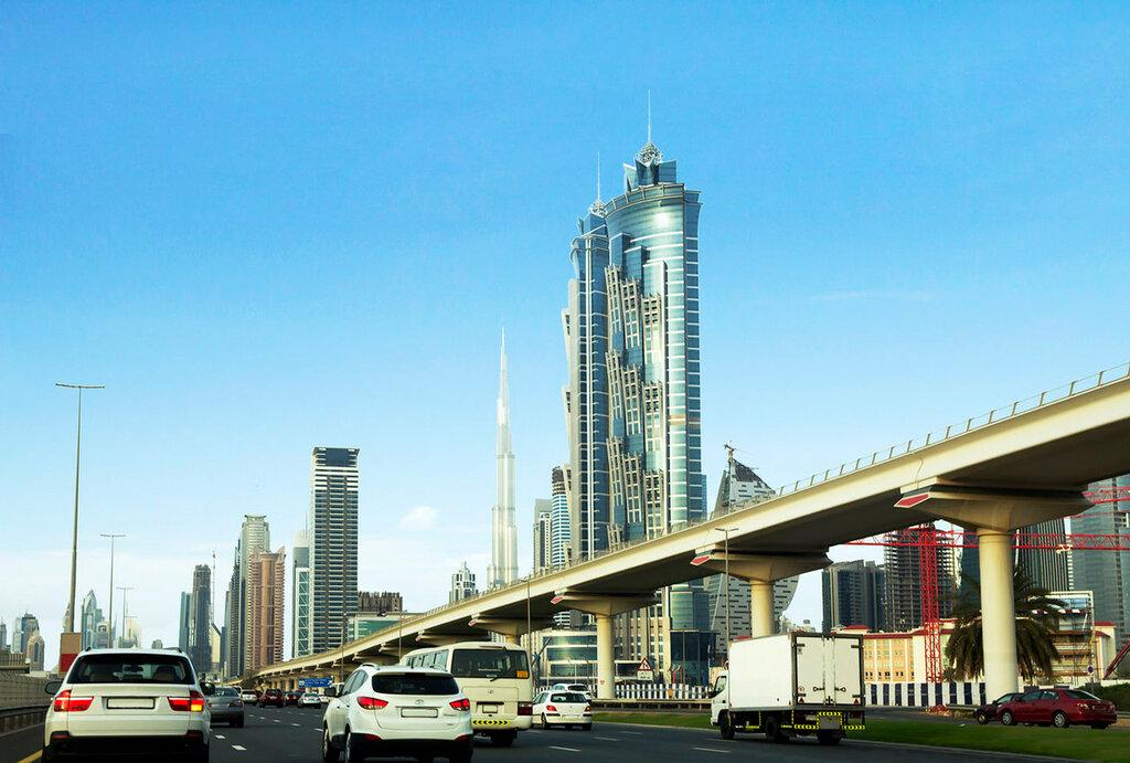 Sheikh Zayed da estrada.  Dubai