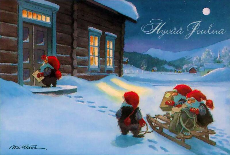 Открытки с рождеством на финском языке, открытки надписями