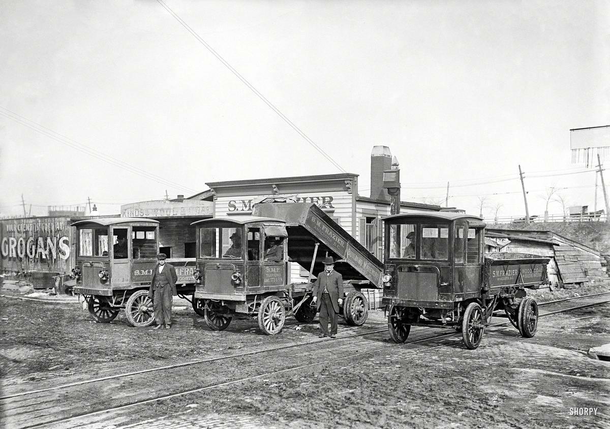 Специализированные транспортные средства начала 20-го века на снимках американских фотографов (6)