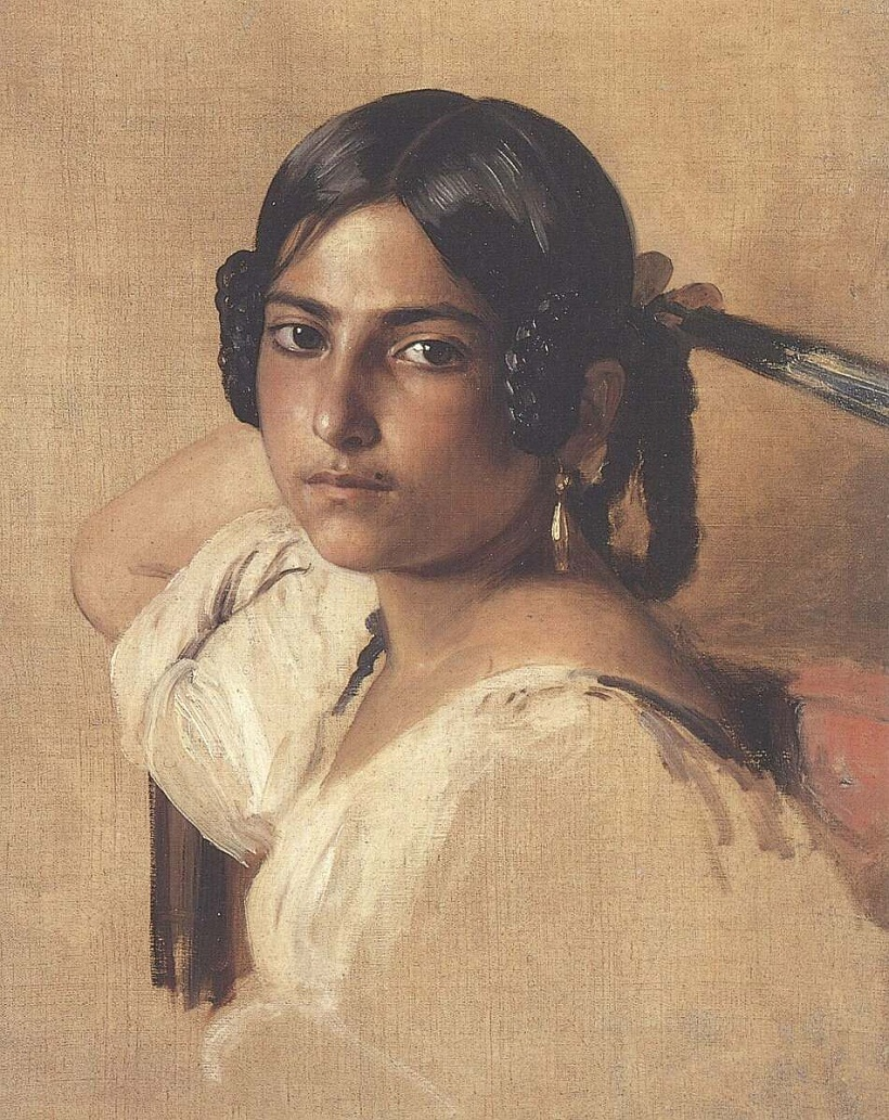 Study of Itlain girl 1834