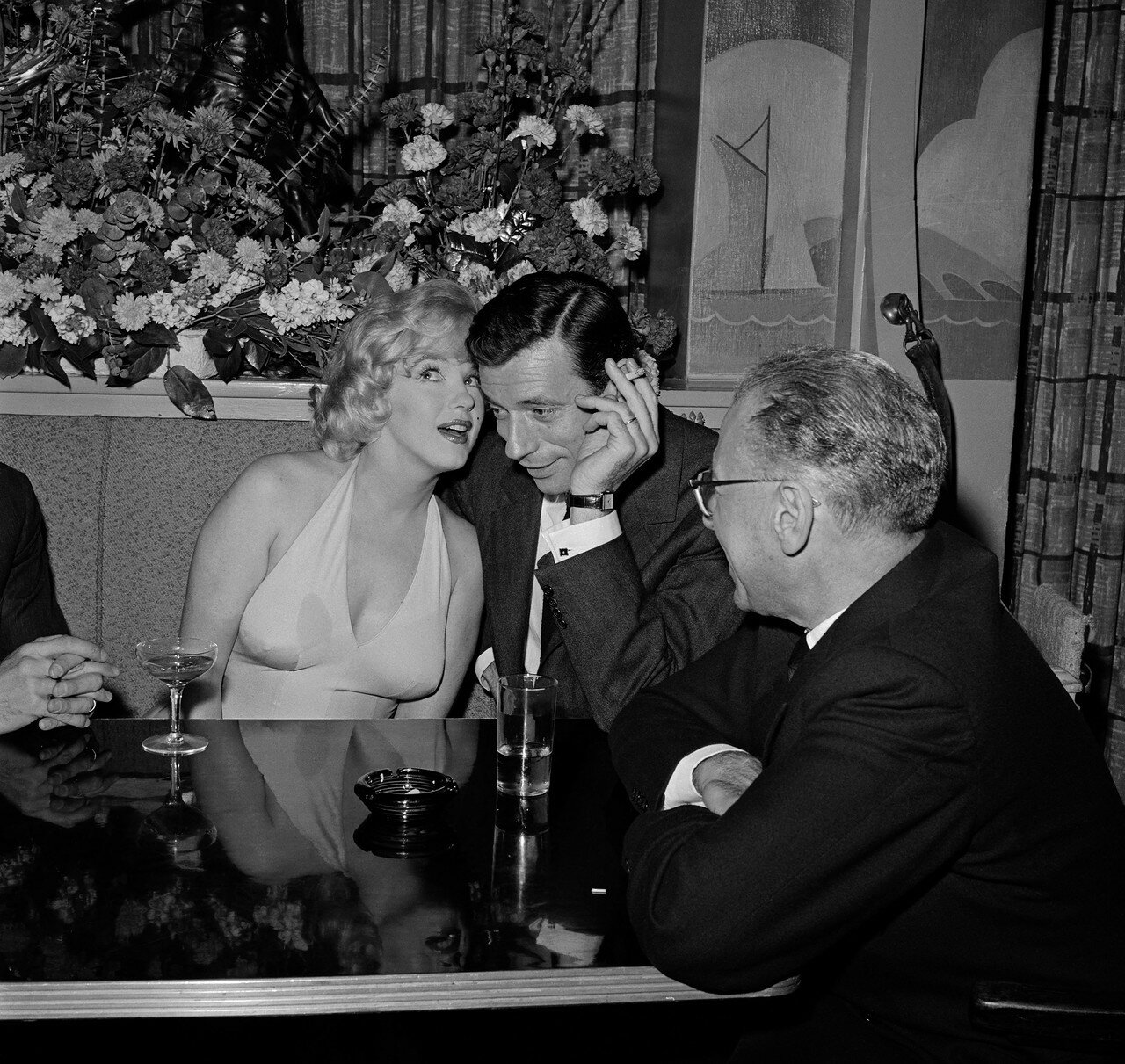Marilyn Monroe Talking with Yves Montand