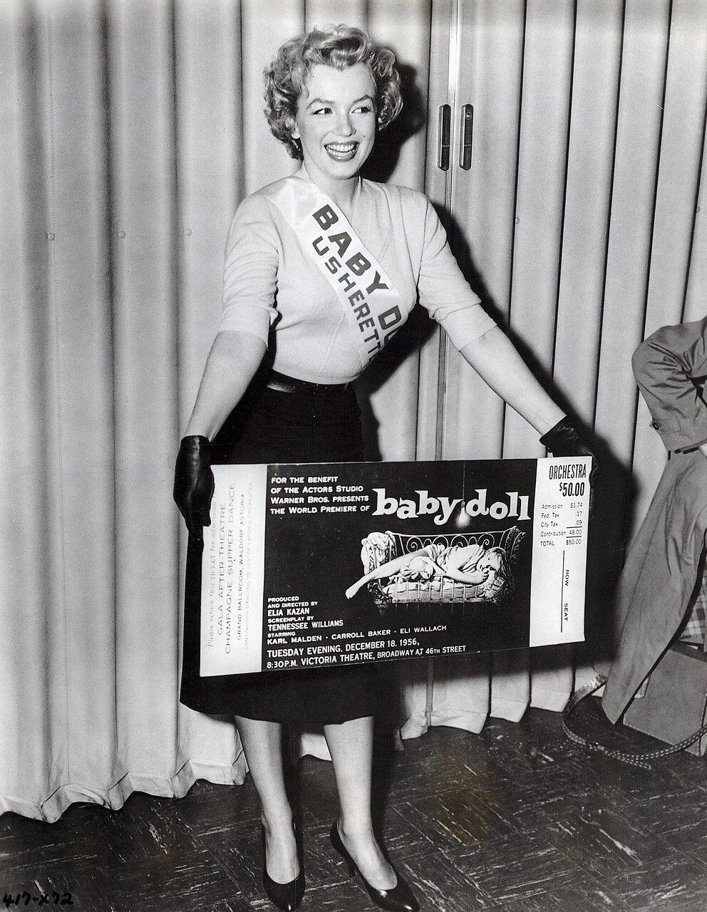 Marilyn Monroe Advertises <Baby Doll>