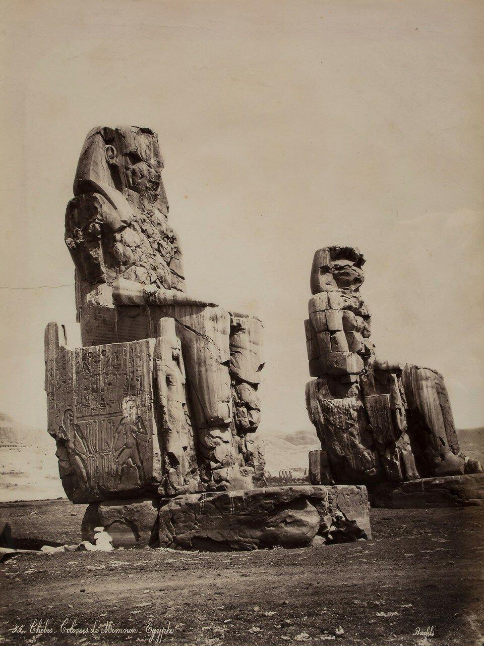 Фивы. Колоссы Мемнона, ок 1870