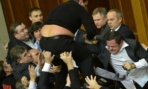 Грандиозное шоу устроили грузинские депутаты