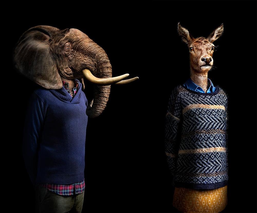 Животные в образе человека