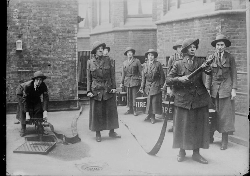Women firefighters in England