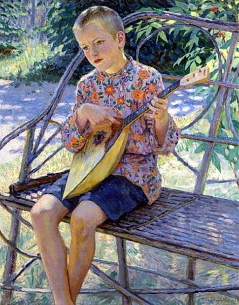 Портрет сына художника, Клауса Эрхардта. 1931 Х., м. 91x72.3.jpg
