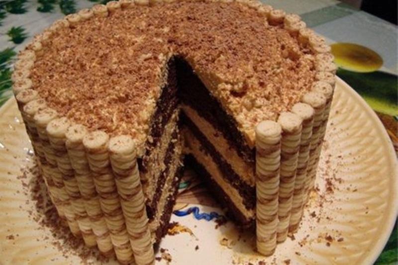 Как с печенья сделать тортик из