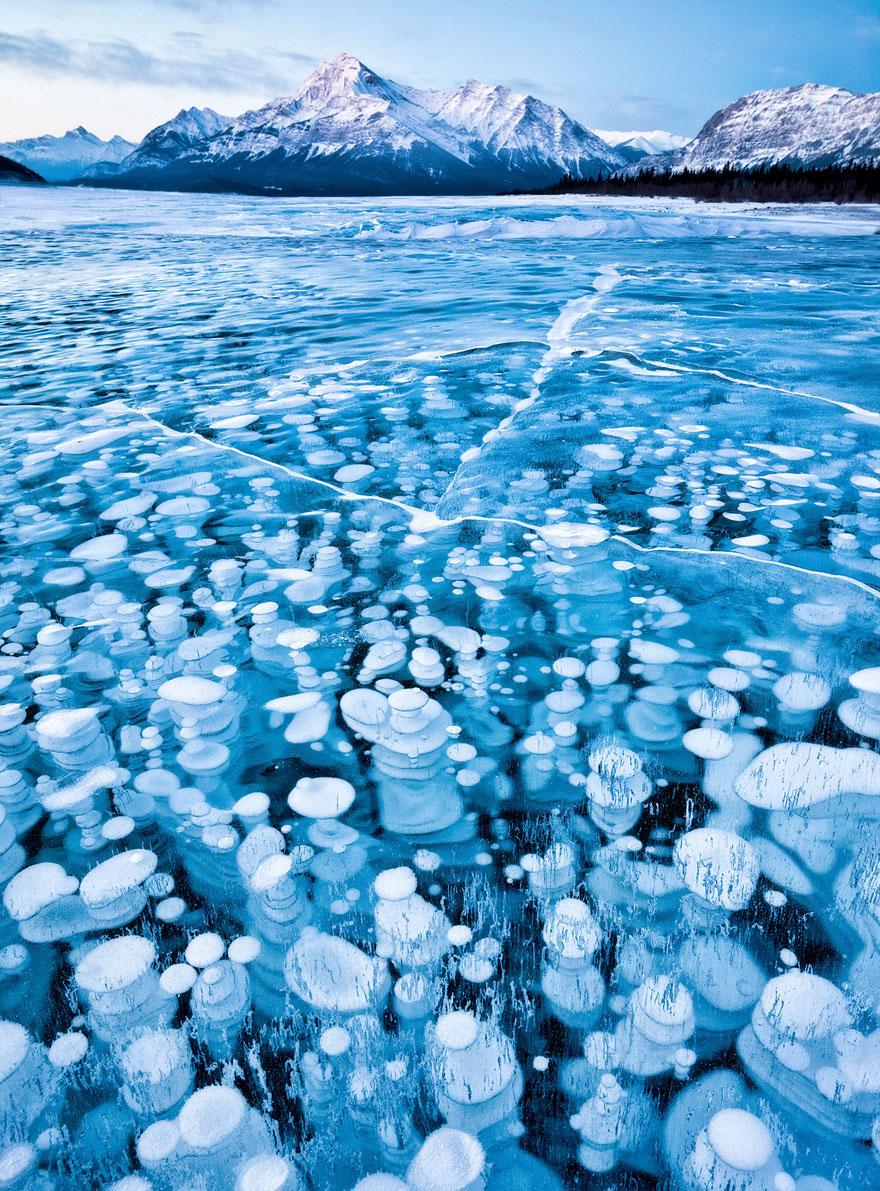 необычное, красота, картинки - 15 водоёмов, скованных льдом, выглядящие как произведения искусства